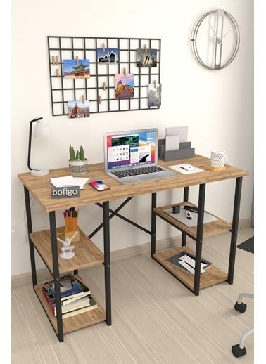 Bofigo Bofigo 60x120 cm 4 Raflı Çalışma Masası Bilgisayar Masası Ofis Ders Yemek Masası Efes Yeşil